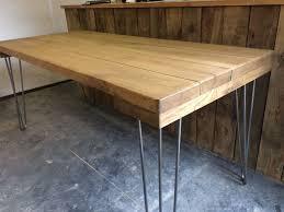 vintage hairpin table legs oak vintage style 6ft hairpin leg table