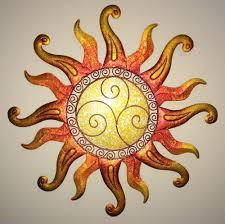 Garden Metal Decor Outstanding Metal Wall Art Sun And Moon Details About Swirl Sun