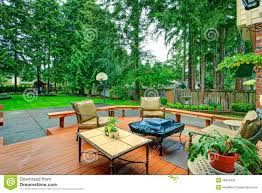 backyard patio area stock photo image 39823456