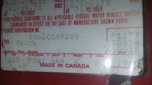 Old Ford Truck Vin Decoder - 1980 vin and door sticker ford truck enthusiasts forums
