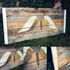Old Door Headboards For Sale by Find More Barn Wood Headboard With Metal Angel Wings And Old Farm