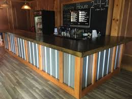 Rustic Reception Desk The Hustler 25 U0027 Rustic Corrugated V 5 Metal Bar Sales Counter