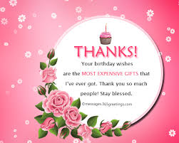 thank message birthday wishes on this special day of