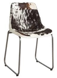 pouf en peau de vache chaise en peau de vache et blanche