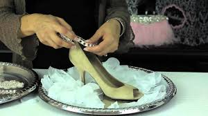 budget diy shoes for a bride glam up your shoes youtube