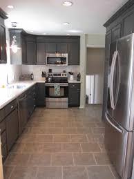kitchen endearing white shaker kitchen cabinets grey floor decor