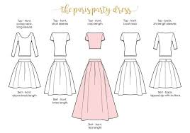 pattern for simple long skirt paris party dress ladies pleated skirt and top xxs to 5xl