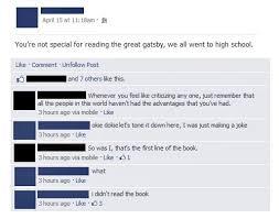 Great Gatsby Meme - failbook the great gatsby funny facebook fails failing on