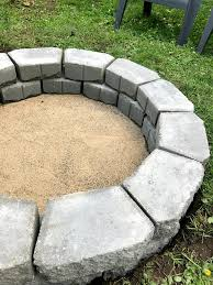 Firepit Bricks Diy Pit In Two Hours 1915 House