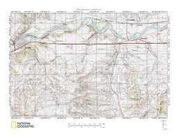Montana Topographic Map by Sarpy Creek Rosebud Creek Drainage Divide Area Landform Origins