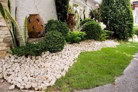 Decorative rocks garden