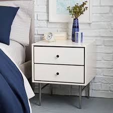 heston mid century nightstand white lacquer west elm bedroom