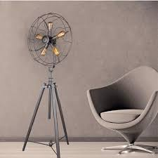 large floor fan industrial five light industrial whimsical iron fan large led floor l