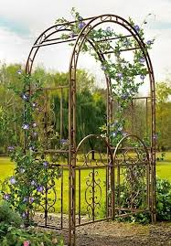 Patio Lawn And Garden Garden Arbor Gate Dark Bronze Iron Arch Archway Patio Lawn Wedding