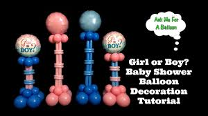 Balloon Decoration For Baby Shower Or Boy Baby Shower Balloon Decoration Tutorial Youtube