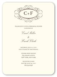rehearsal dinner invitations fancy monogram 5x7 invitation rehearsal dinner invitations