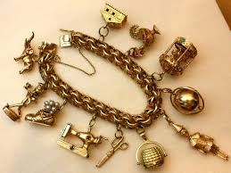 antique charm bracelet charms images Rare vintage charm bracelet at 1stdibs jpg