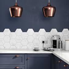 hexagon tile kitchen backsplash image result for blue 60x30 tiles for the home