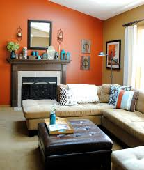 orange and light brown wall paint color combination for small