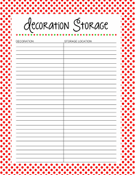 decoration storage free printable 25 days to an organized