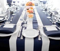 navy blue and white striped table runner home design ideas and