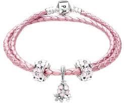 pink leather bracelet images Leather bracelet with charms guardianspirit jpg