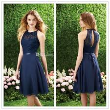 2016 short navy blue bridesmaid dress halter high neck cutout back