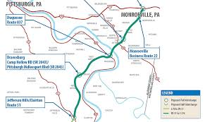 Map Of Pennsylvania Turnpike by Turnpike Halts Work On Mon Fayette Expressway Extension Tube