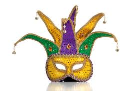 mardi mask gold purple and green mardi gra mask stock image image of