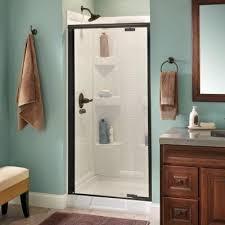 Shower Door 36 Delta Mandara 36 In X 66 In Semi Frameless Pivot Shower Door In