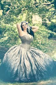 silver ombre wedding dress fairy gown steampunk fairytale