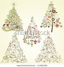 stylized christmas tree stock images royalty free images