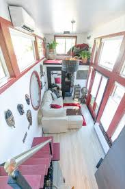 Micro Homes Interior Woman Downsizes Into Amazing Tiny Home On Wheels