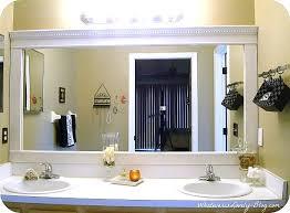 large bathroom mirrors ideas remodelaholic framing a large bathroom mirror stuning framed