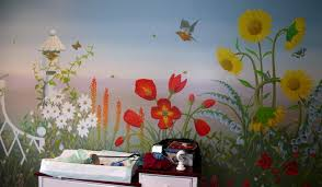 Garden Mural Ideas Flower Garden Wall Mural Wallpaper Mural Ideas 15417