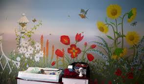 flower garden wall mural wallpaper mural ideas 15417 Garden Mural Ideas