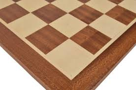 Chess Table Mahogany Wood Chess Board With 2 1 8