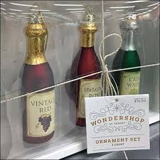 wine glass christmas ornaments wine bottle christmas ornaments by wondershop fixtures up