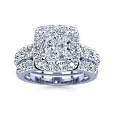 diamond bridal sets 2 25ct princess diamond bridal set in 14k white gold