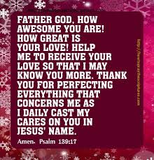 prayer to thank god for perfecting everything