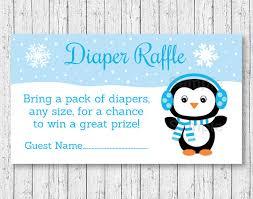penguin baby shower penguin raffle tickets penguin baby shower winter