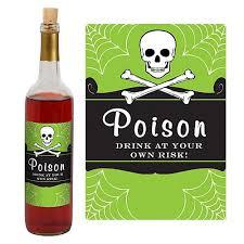 poison wine bottle label shindigz
