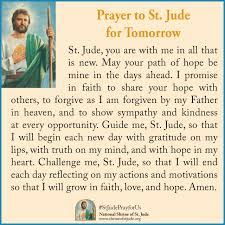 prayer to st jude for tomorrow st jude ecards
