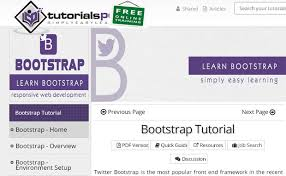 bootstrap tutorial tutorialspoint learn complete bootstrap with these tutorials logo pearl