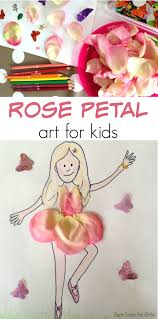 rose petal art for children here come the girls