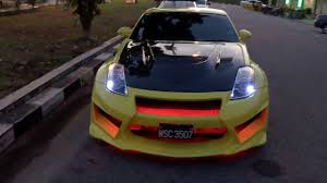 custom nissan 350z nissan 350z z33 coupe yellow custom wide body kit modified youtube