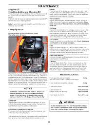 maintenance engine oil notice husqvarna soff cut 150 user