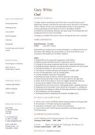 Resume Sample For Cook by Chef Cv Sample Supervising The Cooks And Oversees All Of The