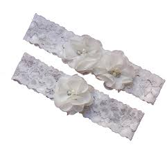 Wedding Garters Amazon Com Ivory Wedding Keepsake Toss Garters Lace Vintage White