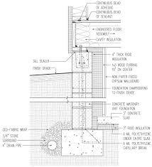 insulated basement concrete block with 4 in interior rigid foam